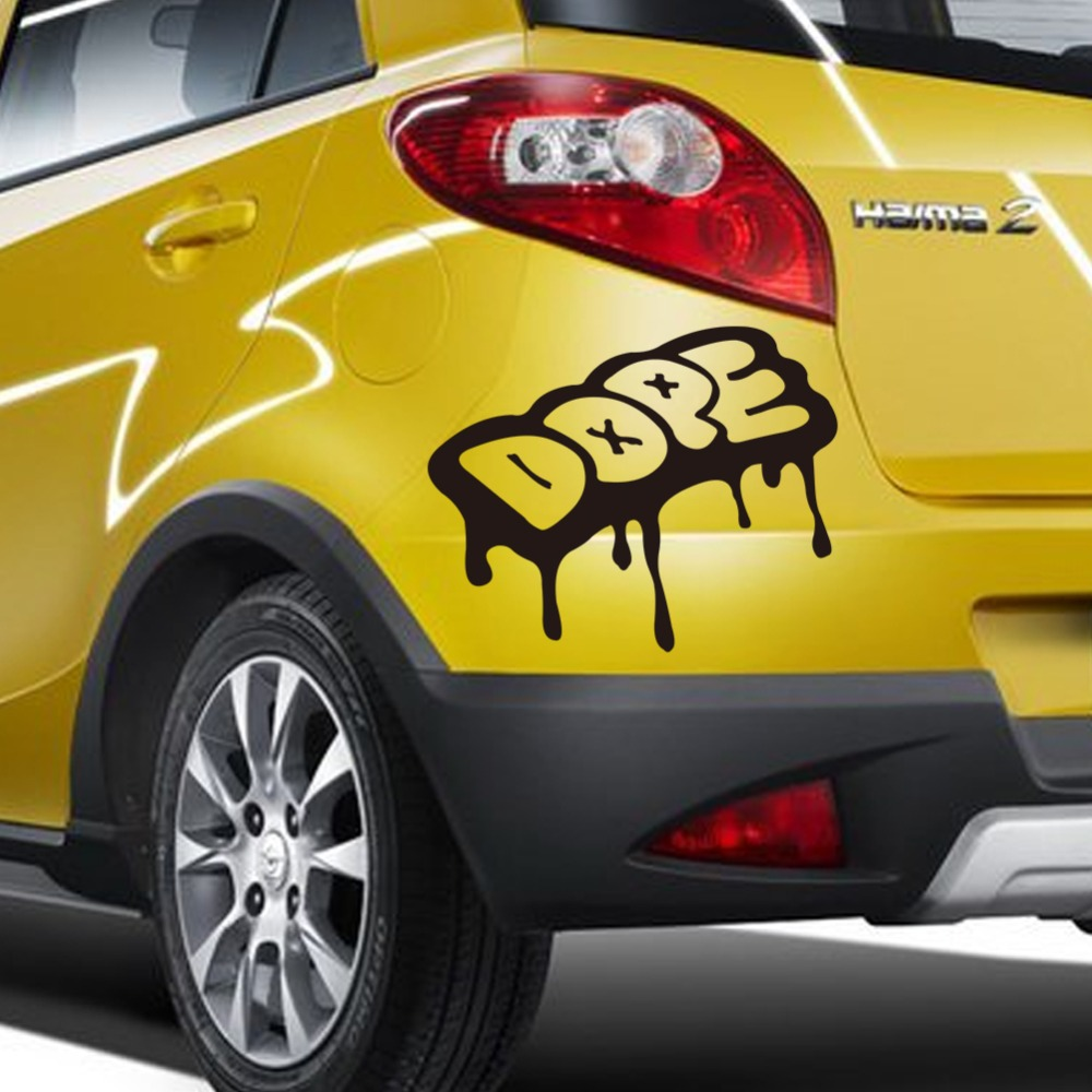 Best car sticker design - Melting Characters Dope Car Sticker Removable Waterproofing Car Decals Car Stylings For All Cars China