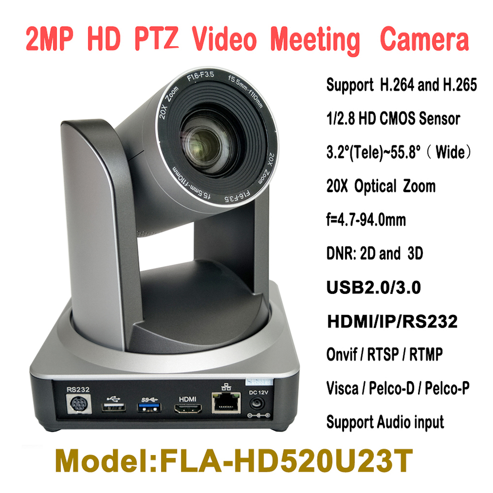 8441a54d399 2MP 20X Optical Zoom USB HDMI IP Broadcast and Conference Video PTZ Camera  RTMP RTSP Onvif