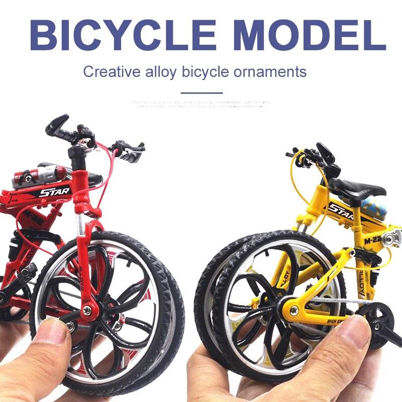 Миниатюрный велосипед коллекция игрушечный мотоцикл моделирование велосипед сплав многоцветный Декор безопасный материал Альпинизм Новинка Велосипед коллекция