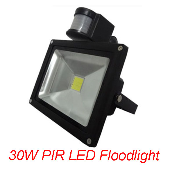 Pir Led Floodlights 30w Outdoor Lamps Motion Sensor Flood Light Ip66 Ac85 256v Factory Direct Dhl Free Shipping