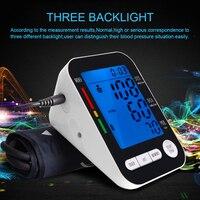 Rechargeable USB Arm Blood Pressure Pulse Monitors Health care Digital Upper Portable Monitor meter sphygmomanometer
