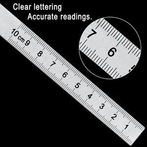 Image 3 - Goniómetro Regla de ángulo de 0 180grados, regla de cabeza redonda de acero inoxidable, regla de ángulo cuadrado para carpintería, prueba de esquina