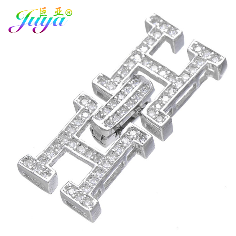 Components For Jewelry Making Gold/Silver Fastener Pearls Clasp Accessories Fit Women Natural Stones Pearls Jewelry DIY Making