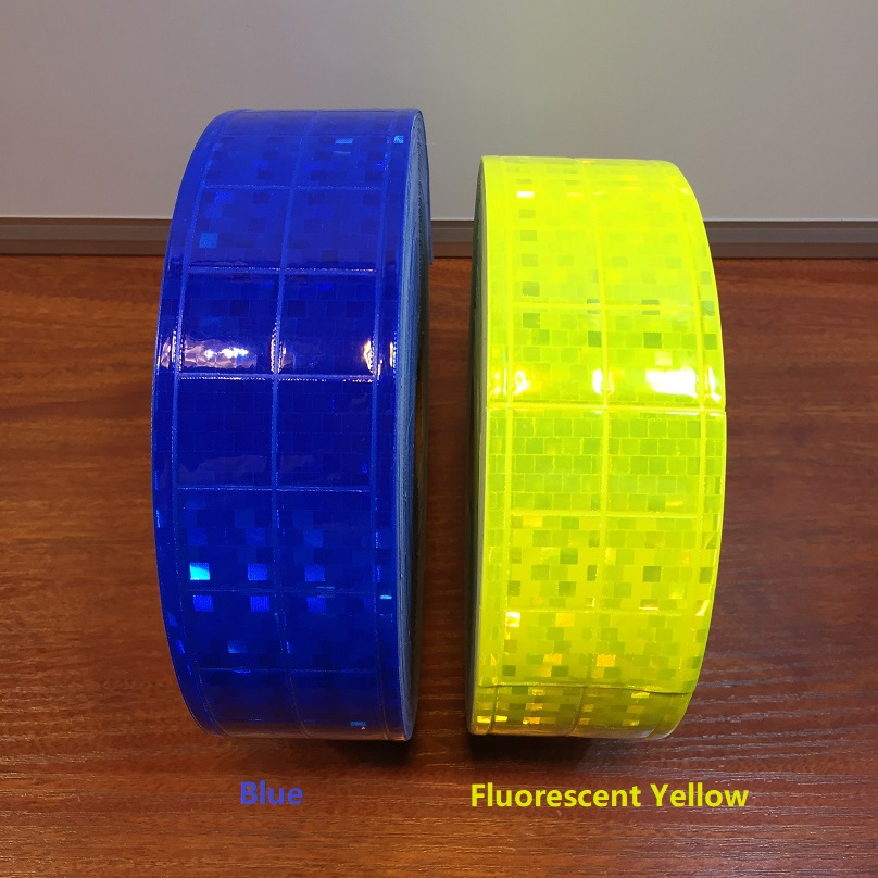 5CM*50M  Microprism Polyvinyl Chloride Lattice Reflective Warning Tape Sewn For The Garment