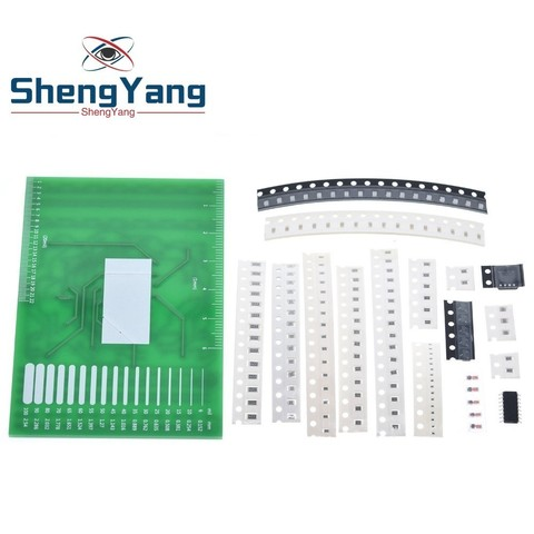 DIY Kit SMD Rotating Flashing LED Components Soldering Practice Board Skill Electronic Circuit Training Suite Electronic DIY Kit Multan