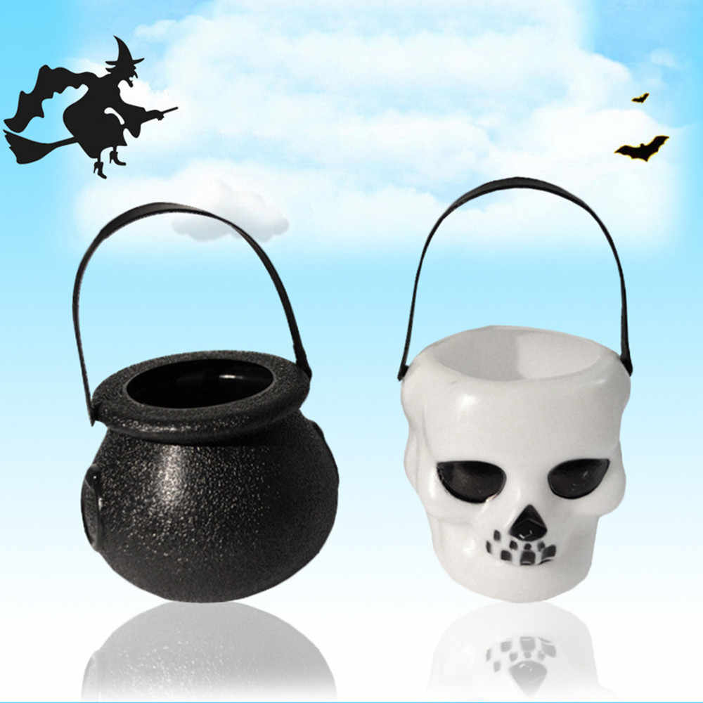 Halloween Candy Kettle box Witch Cauldron Halloween Party Hanging Props St.Patrick's Day birthday Decoration #