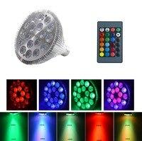 18 Watt PAR38 E27 Dimmbare RGB Led-strahler 16 Farbwechsel LED Glühbirne Mit Fernbedienung Lampe für Home Party dekoration