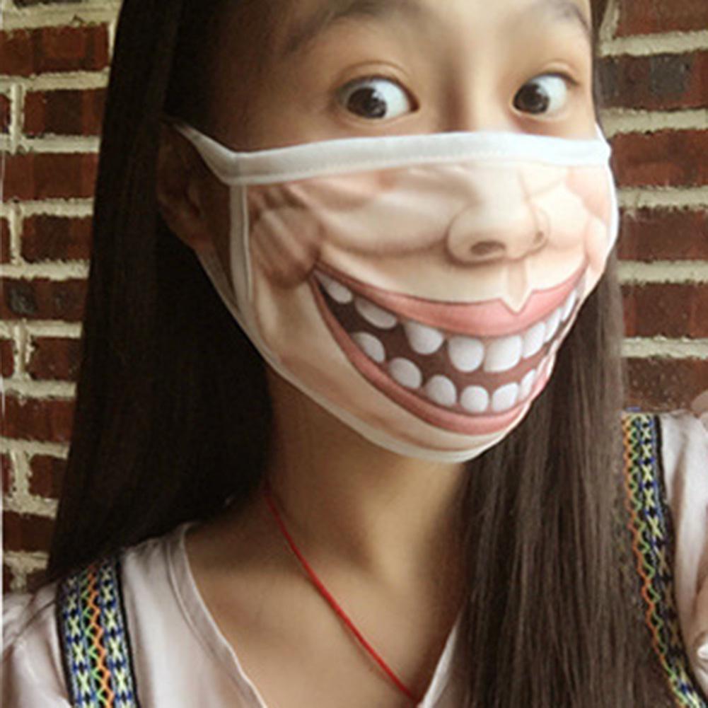 Damen-accessoires Kreative Mund Maske Schelmischen Anti-staub Warme Gesicht Masken Druck Großen Mund Maske Interessant Für Mädchen Jungen San0 Ohne RüCkgabe