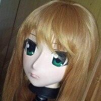 (C2 039) Japan Kigurumi Handmade Full Head Silicone Rubber Face Cosplay Kigurumi Masks Crossdresser Doll Anime Role Play Mask