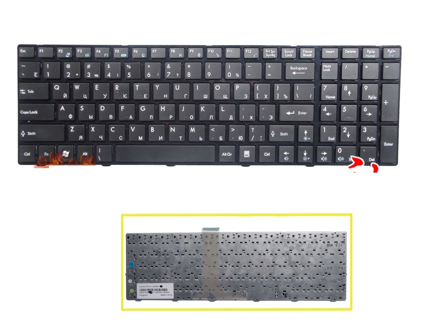Brand New Russian Keyboard for MSI CR630 CX620 A6300 A6500 MS-168A MS-168C MS-16D2 MS-16D3 A6203 laptop RU Keyboard
