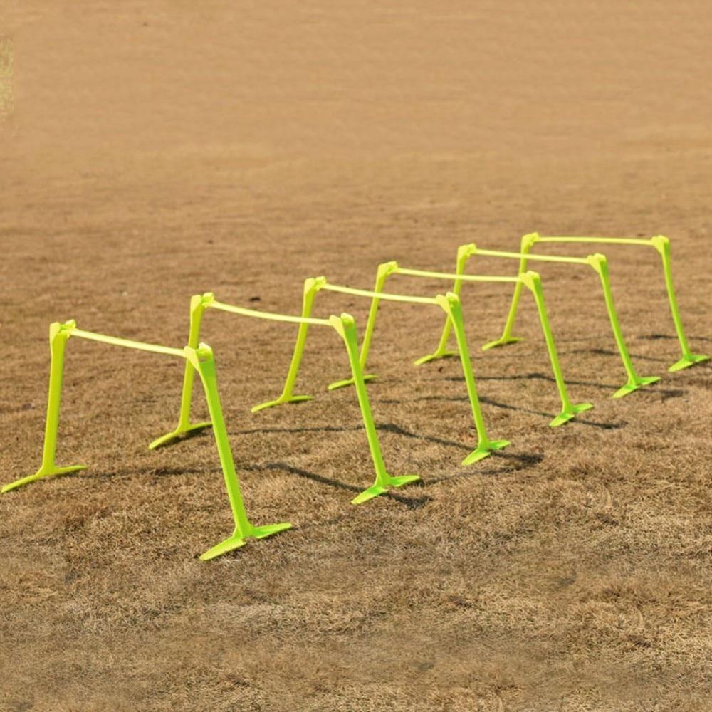 Football Soccer Barrier Frame Training Equipment Adjustable Football Hurdle Remover Able For Jump Running Sensitive
