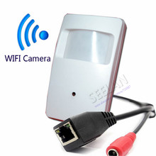 720P WIFI mini IP camera with WIFI port Covert Camera Motion Detector HD PIR STYL Wireless IP Camera P2P Function Security CAM