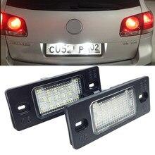 2 pçs 18 led número da placa de licença conduziu a lâmpada luz para porsche cayenne vw golf 5 triplo canbus fonte iluminação da cauda do automóvel
