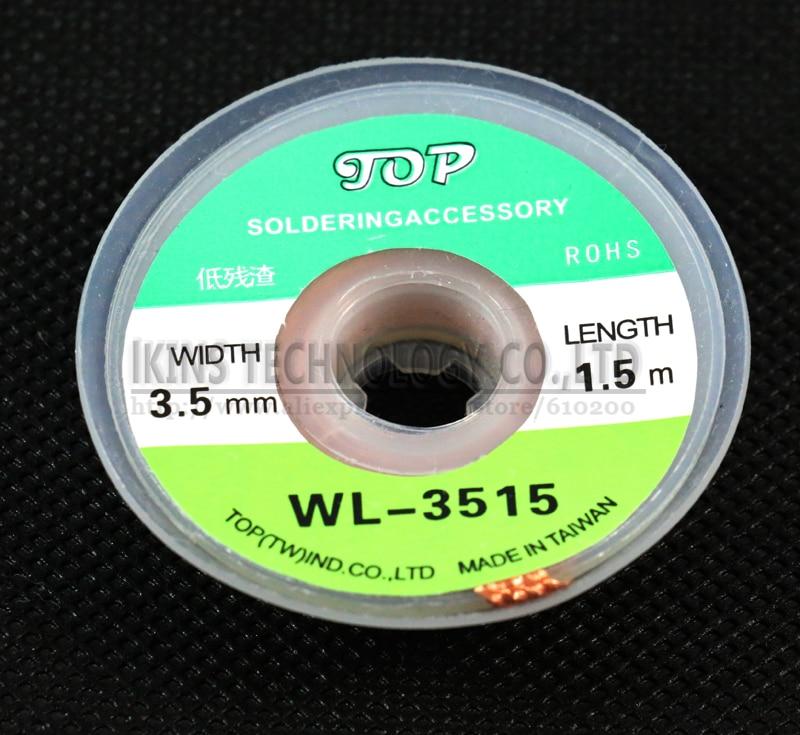 10 pcs/lot Brand WL-3515 BGA soldering wick Solder wick BGA Desoldering Wire Braid Solder Remover Wick Wire for BGA stencil 1pcs lot lpc3220fet296 01 lpc3220fet296 bga