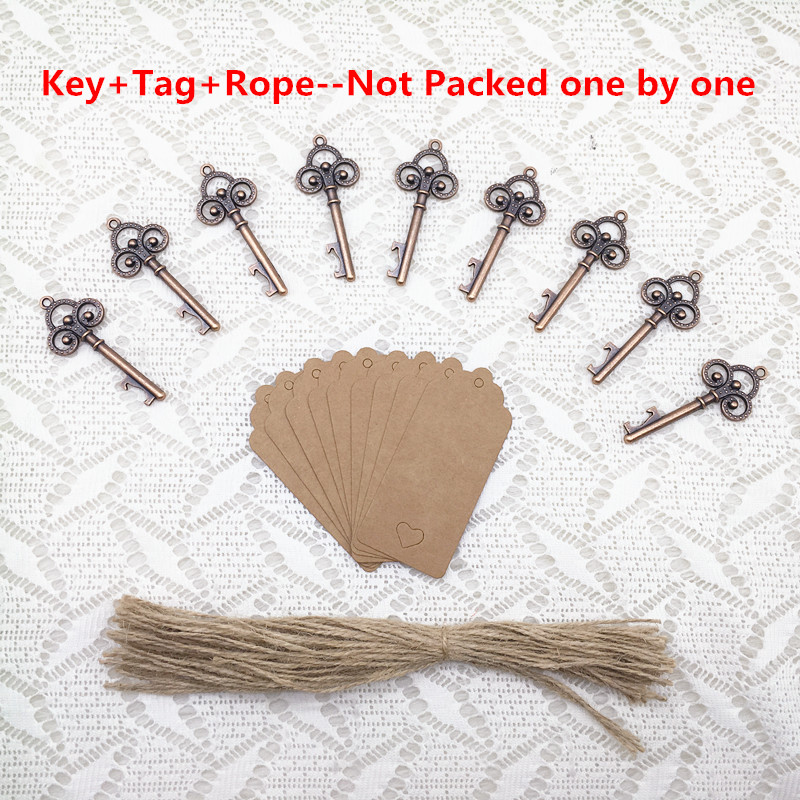 Homemade Wedding Gifts For Guests: 50pcs DIY Wedding Souvenirs Vintage Key Bottle Opener With