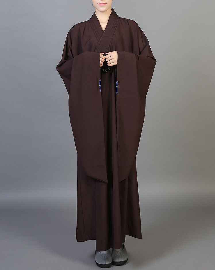 Buddhist Monk Shaolin Dress Meditation Haiqing Robe Long Gown Kung Fu Suit New