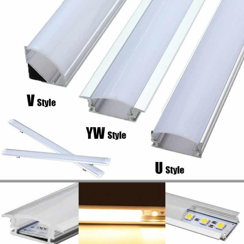 U/V/YW Стиль в форме 30 см серебро алюминиевый светодиод брус свет профиль для светодиодной ленты для Светодиодный полосатый свет для бара Кабинета лампы