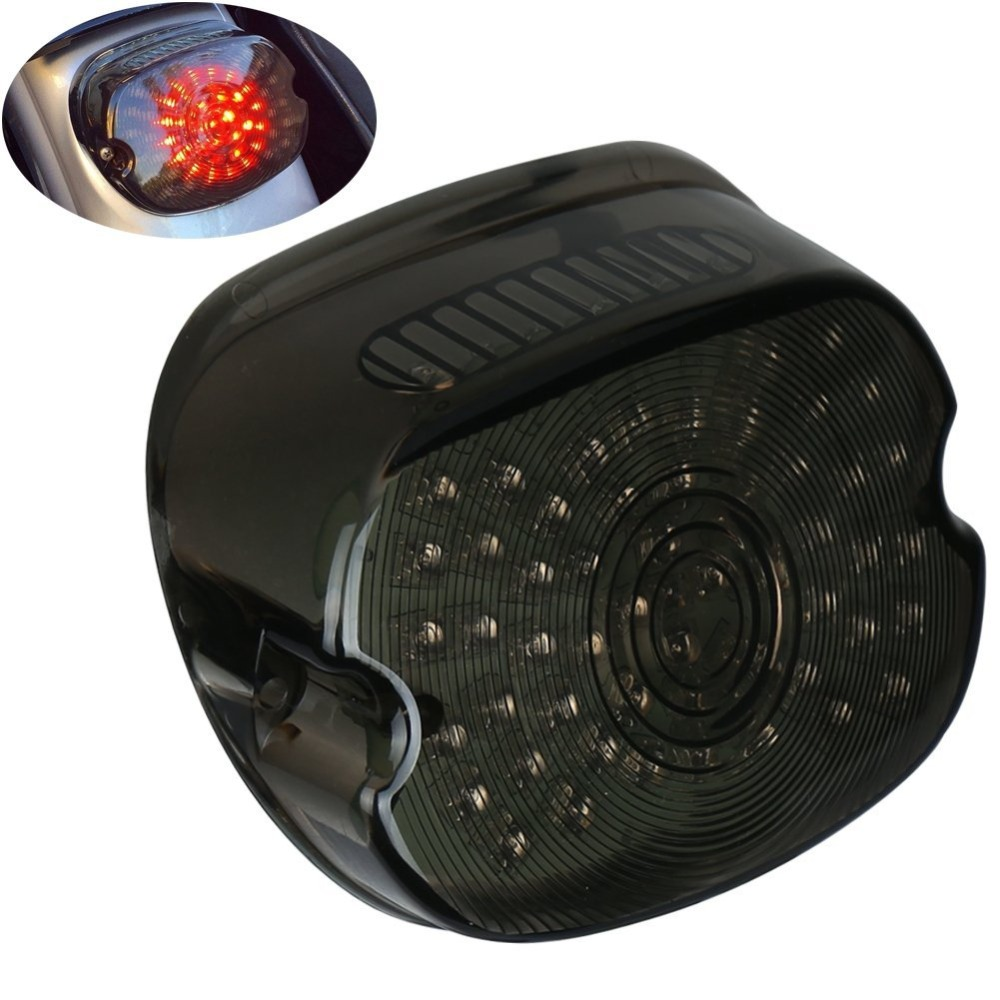 Somked Lay Down Type Motorcycle LED Tail Light For Harley Davidson Rear Driving Turning Brake Taillights for 1200 Sportster 883 mtsooning timing cover and 1 derby cover for harley davidson xlh 883 sportster 1986 2004 xl 883 sportster custom 1998 2008 883l