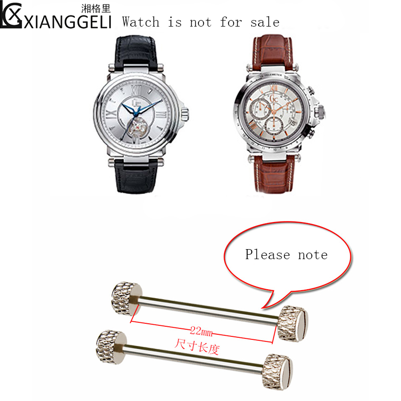 Watch With Connecting Rod, Raw Ear, Screw Rod, Suitable For GC Gucci GUCCI Waterproof Stainless Steel Watch Accessories 22mm