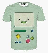 Cartoon T shirt men funny 3d t-shirt print TV buttons summer tees shirt short sleeve tops men clothing