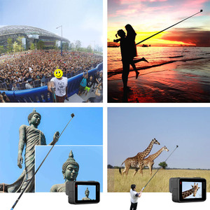 "Image 5 - 106"" Long Carbon Fiber Handheld Selfie Stick Extendable Pole Monopod for GoPro Hero 6 5 4 3 Xiaomi YI SJCAM Eken SOOCOO"