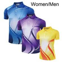 Одежда для бадминтона рубашка мужская женская, рубашка для настольного тенниса, дышащая ТЕННИСНАЯ СПОРТИВНАЯ футболка с отложным воротником, спортивная одежда M-4XL A58