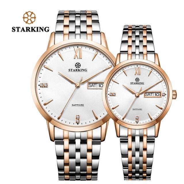 7220e593f78 STARKING Vestido Da Moda Casal Relógios Das Mulheres Dos Homens do Amante  De Quartzo de Alta