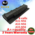 [ Особое ] 6 клетки лэптоп аккумулятор для asus N46 n46v N46VJ N56 N56D N56V N76 N76V A31-N56 A32-N56 A33-N56