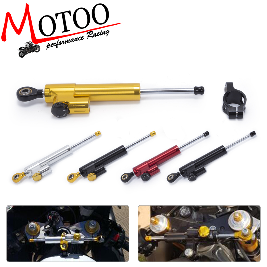 Motoo - Universal Motorcycle CNC Steering Damper Stabilizerlinear  Reversed Safety Control For YAMAHA Mt07 Mt09 Mt 07 Mt 09