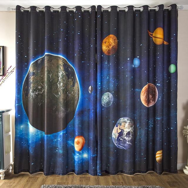 Dormitorio de los niños nebulosa estrella universo tema de ciencia ...