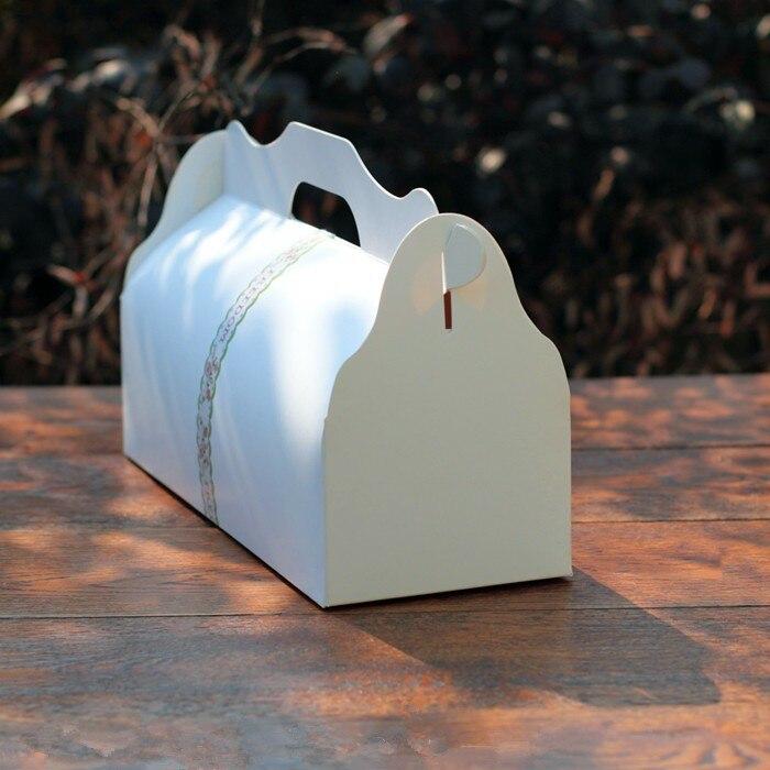 Свежий сладкий длинный простой белый портативный десертная коробка рулон торт сыра торт коробки выпечки сладости упаковка сувениры поставка