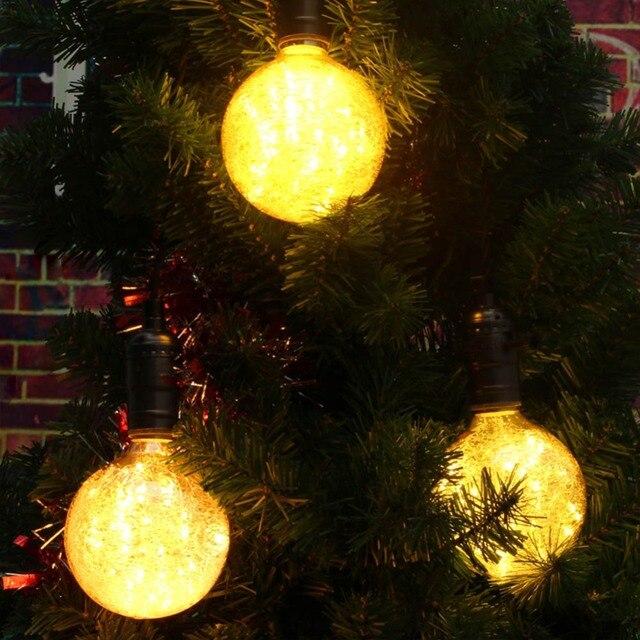 Grensk G95 LED Globe Birne Dekorative Glühbirnen Fee Weihnachten Glühbirne Vogel Design 50 LED String Lichter Innen E27 85-265 V