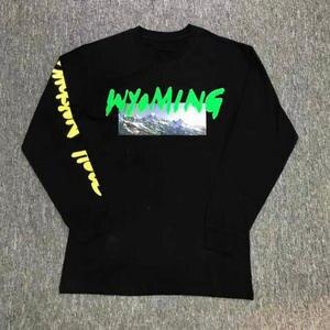 4fbf4a1e7c3005 IUURANUS Mountains T Shirts Kanye West Long Sleeve T-shirt