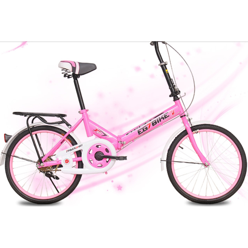 High Quality Carbon Steel 20 Inches Ordinary Pedal Folding Bicycles