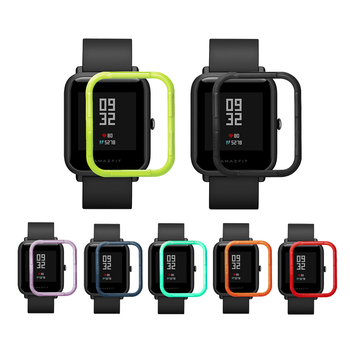 Protector Case for Xiaomi Huami Amazfit Bip Youth Smart Watch Case Slim Colorful Frame PC Case Cover Protect Shell for Xiaomi