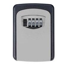 Caja fuerte de almacenamiento de aleación de Metal, 4 llaves de combinación Digital, cerradura oculta montada en la pared, cajas de bloqueo de seguridad para almacenamiento de tarjetas