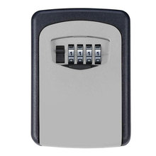 Metal Alaşım Depolama Güvenli Anahtar Kutusu 4 Dijital Şifreli Tuş Kilidi Duvara Monte Gizli Anahtar/Kart Depolama Güvenlik Kilidi kutuları
