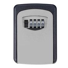 Metal Alloy Storage Safe Key Box 4 Digital Combination Keys Lock Wall Mounted Hidden Key /Card Storage Security Lock Boxes