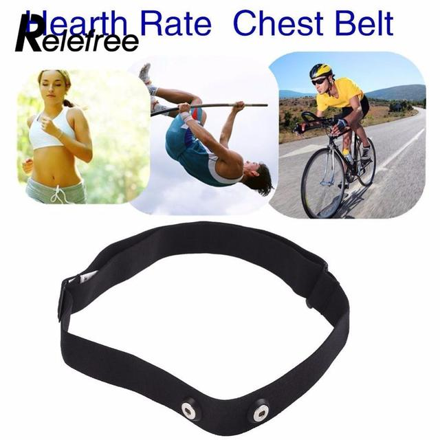 Relefree Elastic Adjustable Chest Belt Strap Band for Garmin Wahoo Polar Sport Heart Rate Monitor Outdoor Running Fitness Black