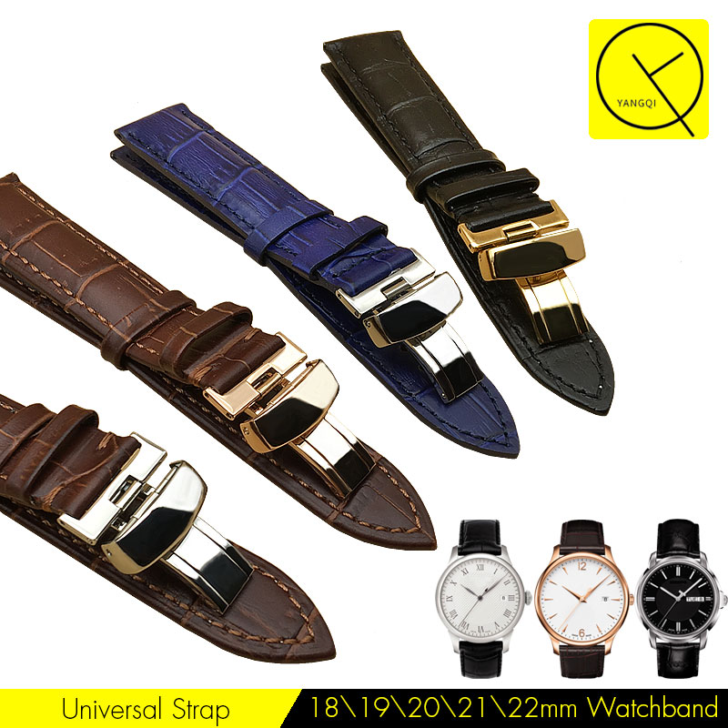 Watchband Leather 18/19/20/22/24mm Watch Strap Band Butterfly Buckle for Tissot 1853 PRC200 PRS200 T17 T41 T063 T91 T035 Bracele tissot t063 637 16 037 00