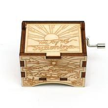 My Lover To Love жена любовь дочь подарок деревянный ручной коленчатый ты мой Солнечный свет музыкальная шкатулка Рождественский подарок Caja Musical Madera