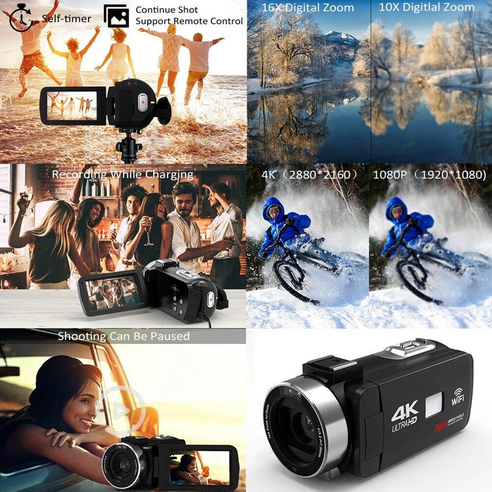 HTB1QB36aLb2gK0jSZK9q6yEgFXaJ HDV4K HD digital camera night vision 30MP DV WIFI touch screen infrared fill light Camcorder Recorder