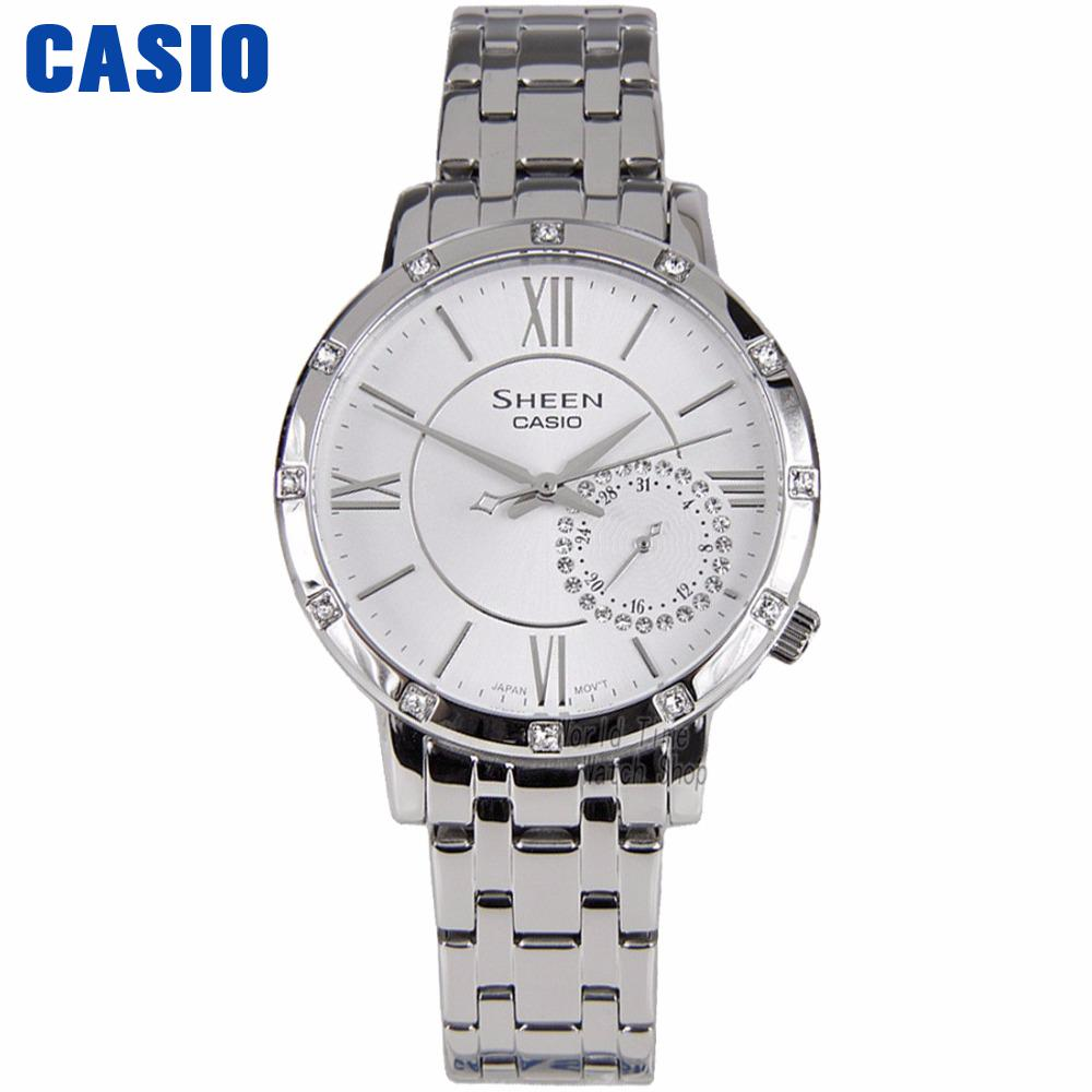 Casio watch Fashion pointer quartz waterproof ladies watch SHE-3046DP-7A SHE-3046GLP-7A SHE-3046GLP-7B SHE-3046SGP-7A casio watch fashion trend ms quartz watch she 4048pgl 6a