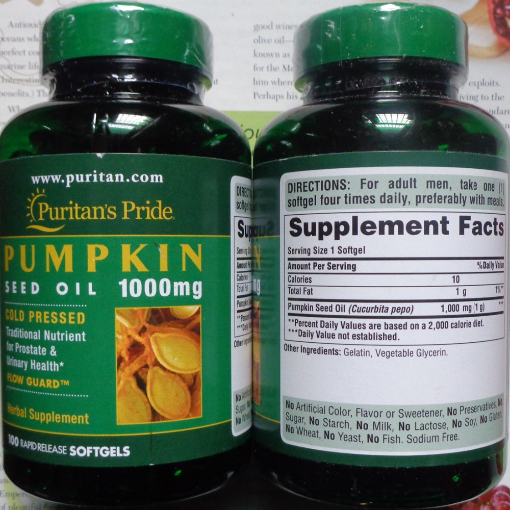 Pump Kin seed oil 1000 mg 100 pcs Free shipping