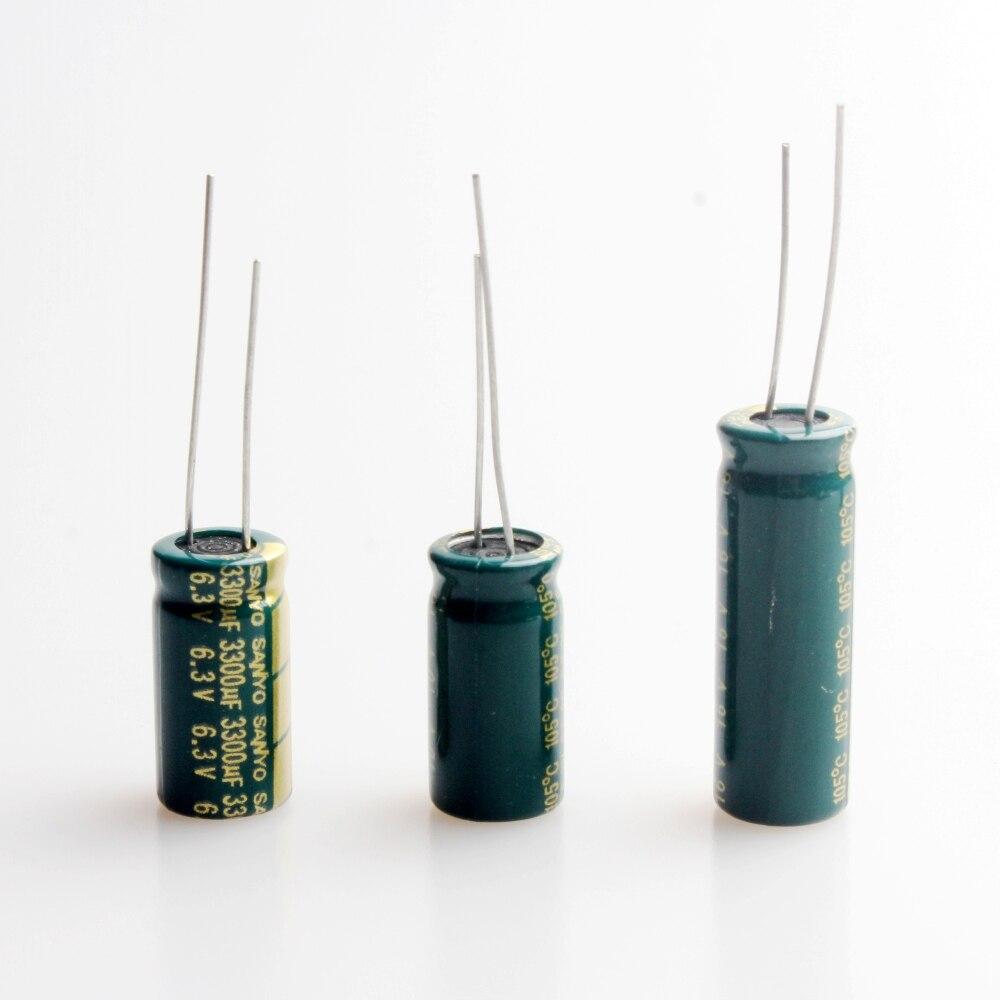 10Pcs 3300uF 6.3V 10V 16V 25V 35V 50V Electrolytic Capacitor