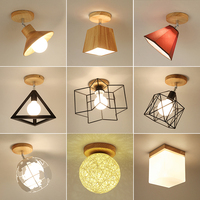 E27 Iron 5W Iron Ceiling Lamp Shade Pendant Light Covers And Shades Triangle Metal Ceiling Lampshades