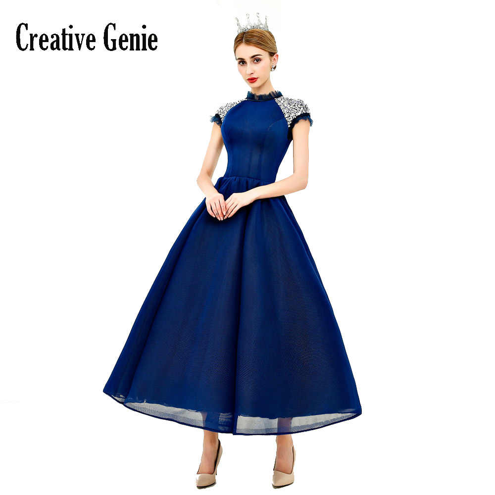 8260aff305 Ball Gown Ankle-Length 2018 Sexy Prom Dress New Stretch Composite Mesh  Vintage Cap Sleeve