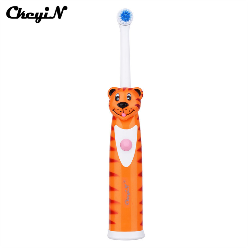 CkeyiN Ultrasonic Sonic Electric Toothbrush Battery Operated Tooth Brush+2Pcs Replacement Head Teeth Whitening Stain Remover 45 image