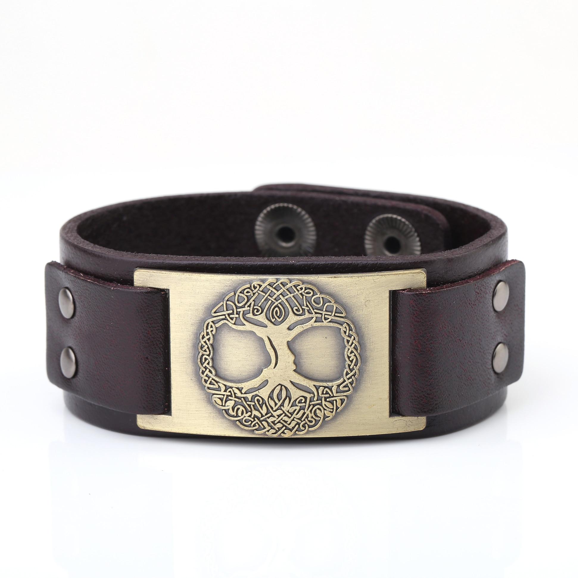 Bracelet en cuir arbre de vie  17