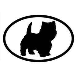 15.2*10.2CM WEST HIGHLAND TERRIER Oval Cute Animal Window Decorative Decals Car Sticker C6-1501